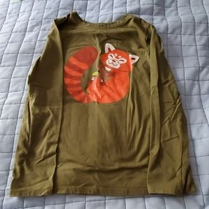 Long sleeve red panda shirt
